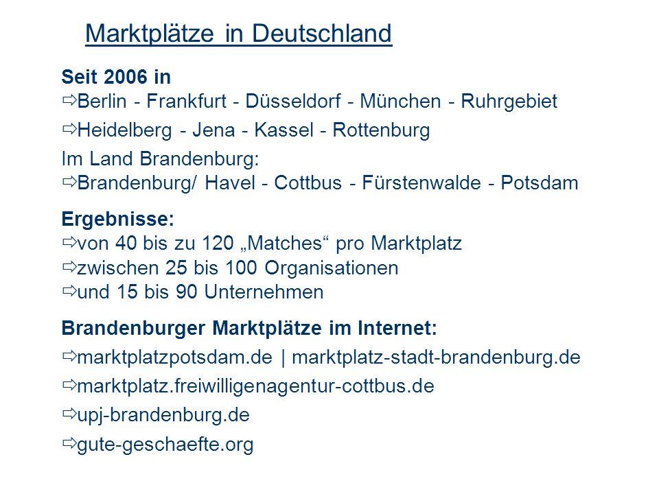Seit 2006 in Berlin - Frankfurt - Düsseldorf - München - Ruhrgebiet Heidelberg - Jena - Kassel - Rottenburg Im Land Brandenburg: Brandenburg/ Havel -