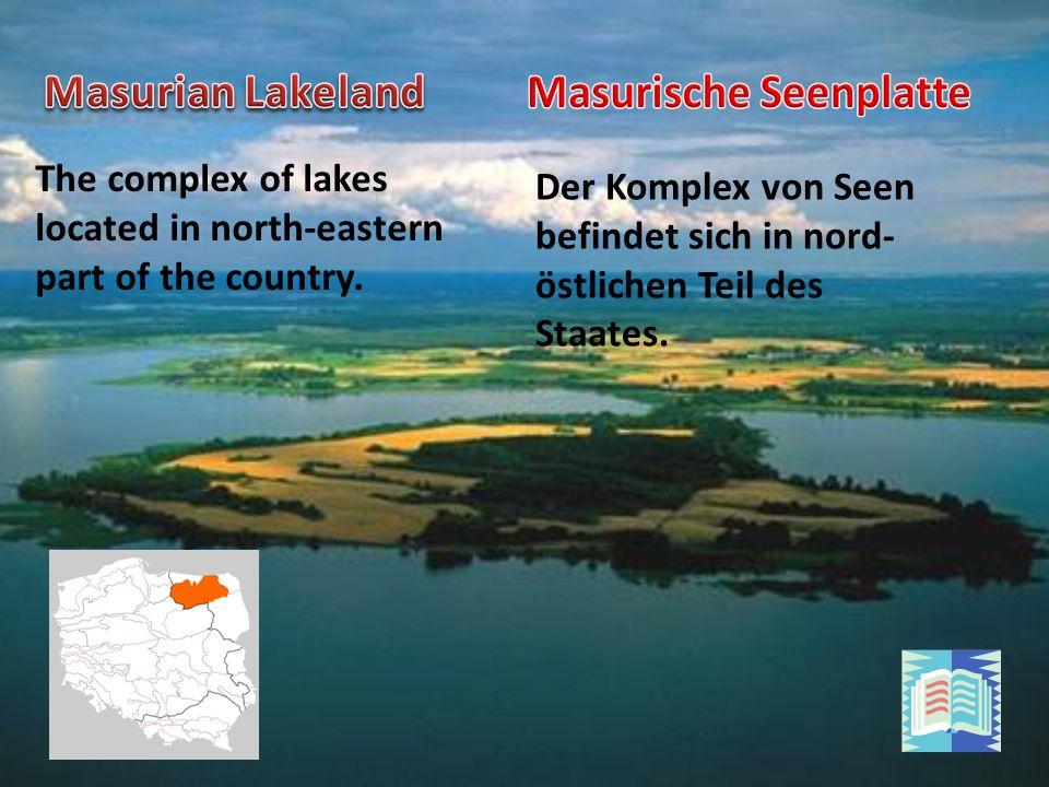 Der Komplex von Seen befindet sich in nord- östlichen Teil des Staates.