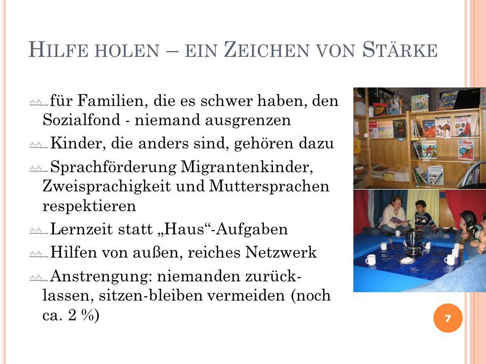 H ILFE HOLEN – EIN Z EICHEN VON S TÄRKE für Familien, die es schwer haben, den Sozialfond - niemand ausgrenzen Kinder, die anders sind, gehören dazu S