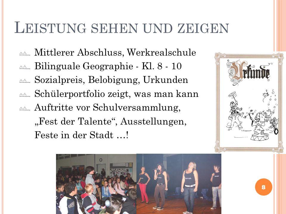 Burgschule Esslingen PORTFOLIO Was ich bin Was ich alles kann.