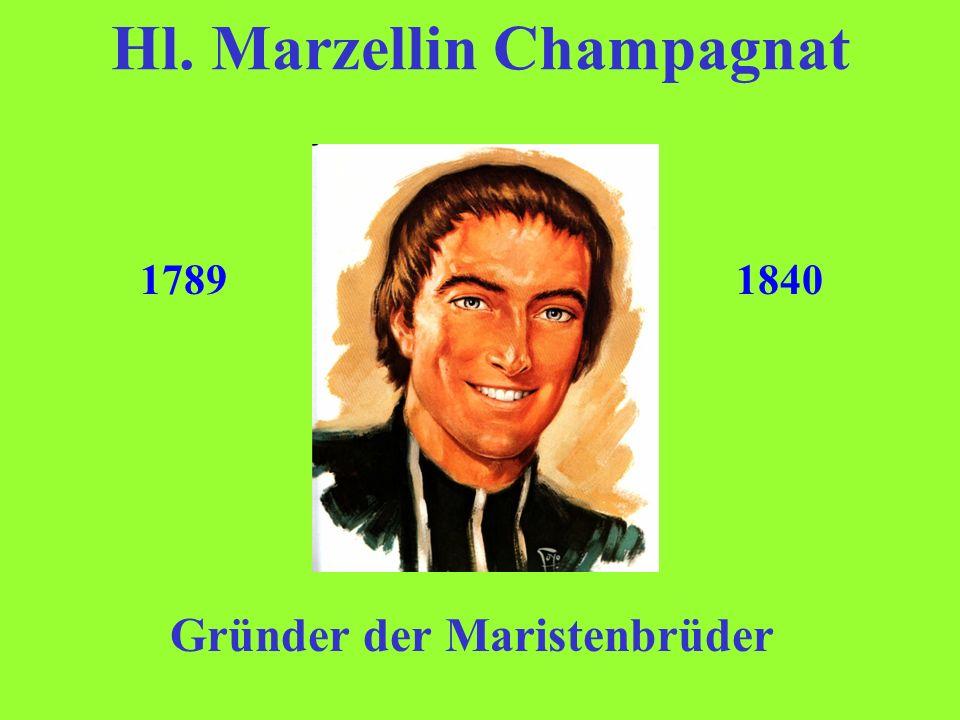 Krankheit und Tod Die Gesundheit Marzellins ließ immer mehr nach wegen seines unermüdlichen Einsatzes für sein Werk.