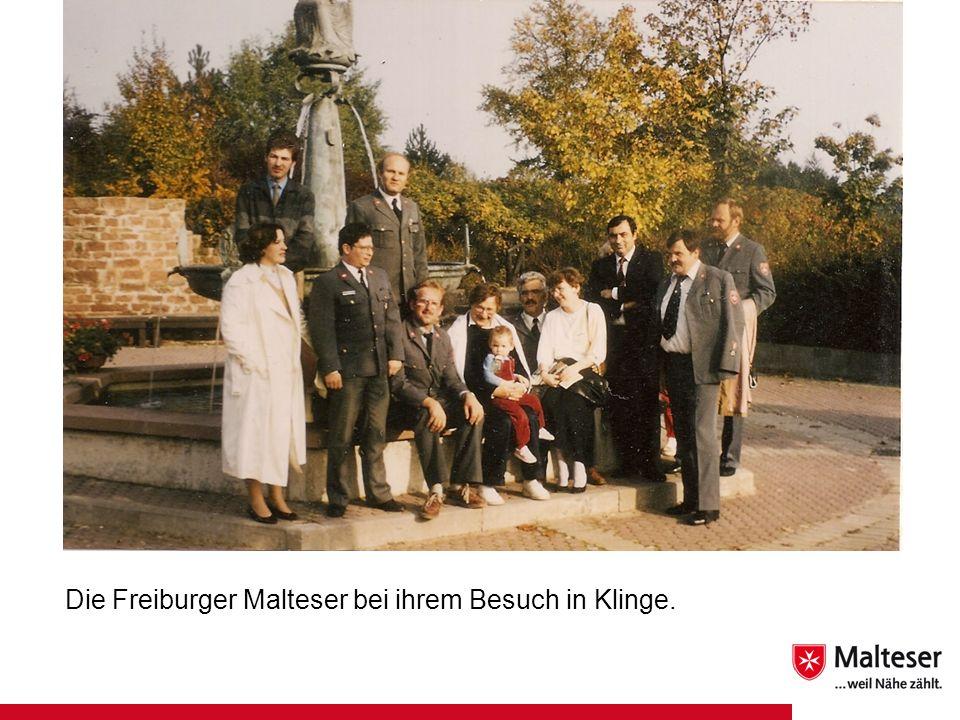 Die Freiburger Malteser bei ihrem Besuch in Klinge.