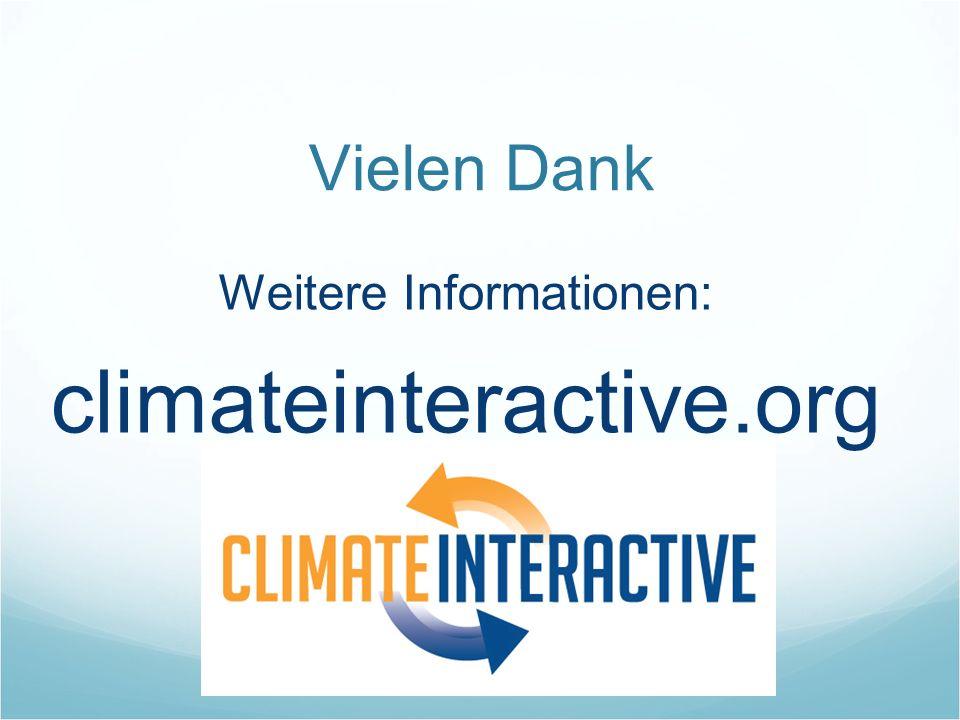 Vielen Dank Weitere Informationen: climateinteractive.org