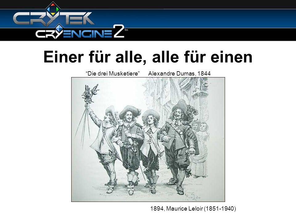 Einer für alle, alle für einen 1894, Maurice Leloir (1851-1940) Die drei Musketiere Alexandre Dumas, 1844