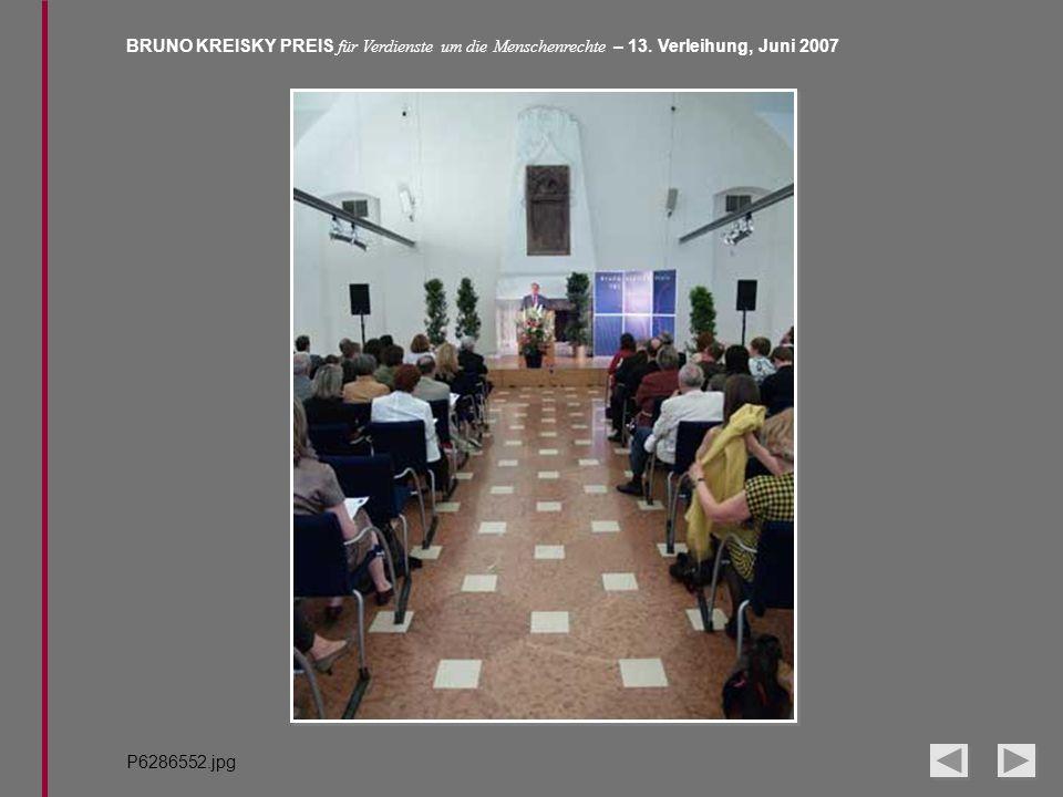 BRUNO KREISKY PREIS für Verdienste um die Menschenrechte – 13. Verleihung, Juni 2007 P6286552.jpg