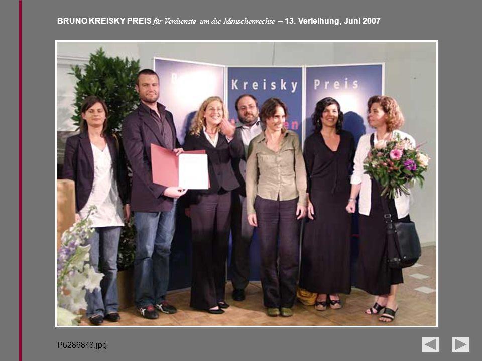 BRUNO KREISKY PREIS für Verdienste um die Menschenrechte – 13. Verleihung, Juni 2007 P6286848.jpg