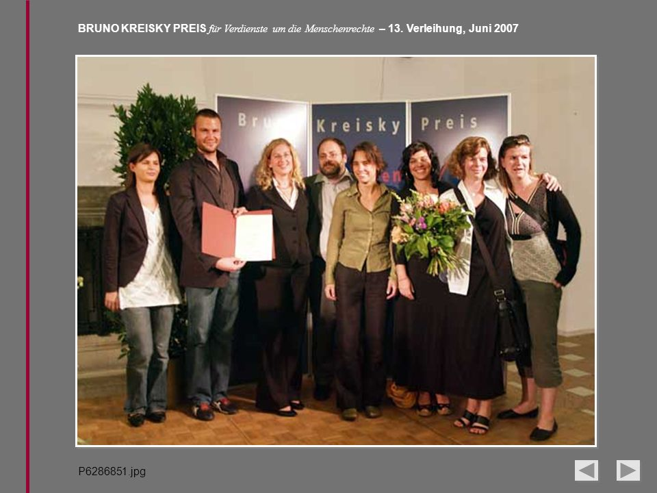 BRUNO KREISKY PREIS für Verdienste um die Menschenrechte – 13. Verleihung, Juni 2007 P6286851.jpg