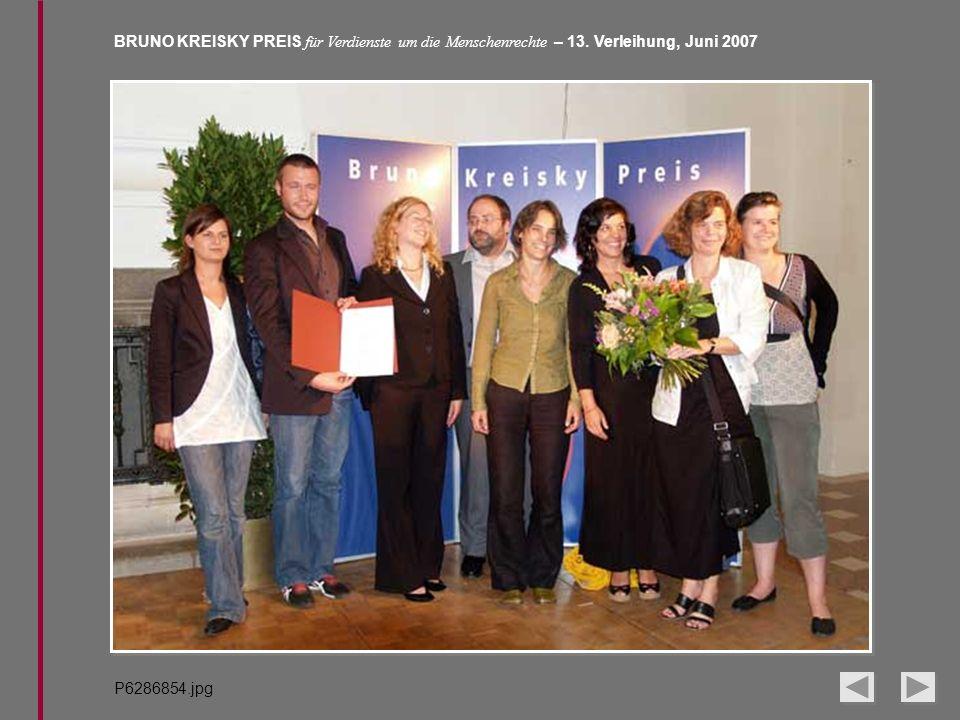 BRUNO KREISKY PREIS für Verdienste um die Menschenrechte – 13. Verleihung, Juni 2007 P6286854.jpg