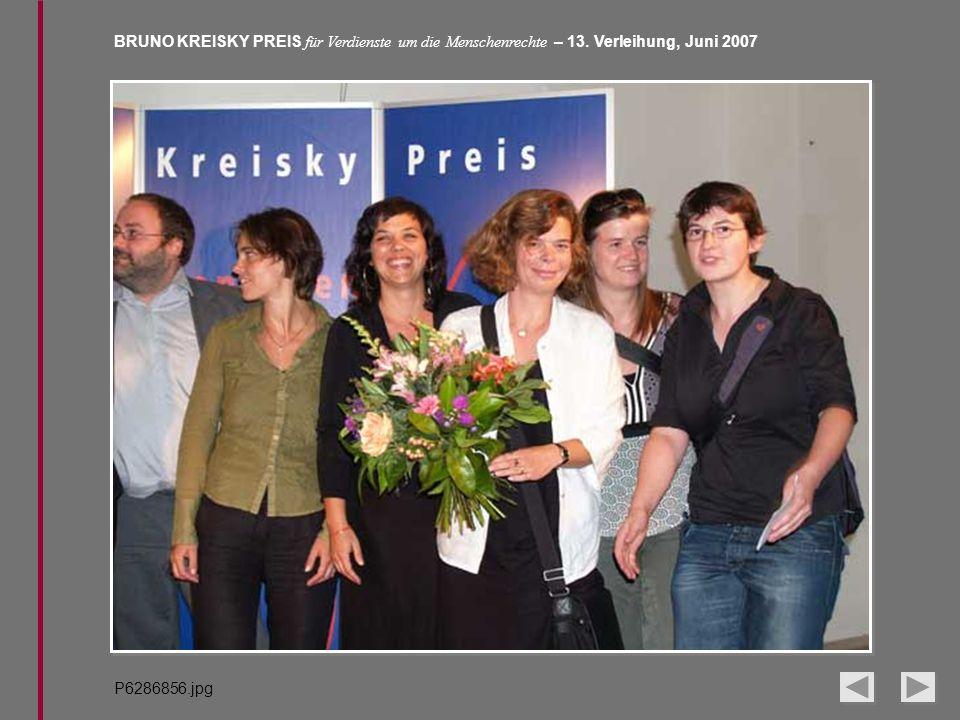 BRUNO KREISKY PREIS für Verdienste um die Menschenrechte – 13. Verleihung, Juni 2007 P6286856.jpg