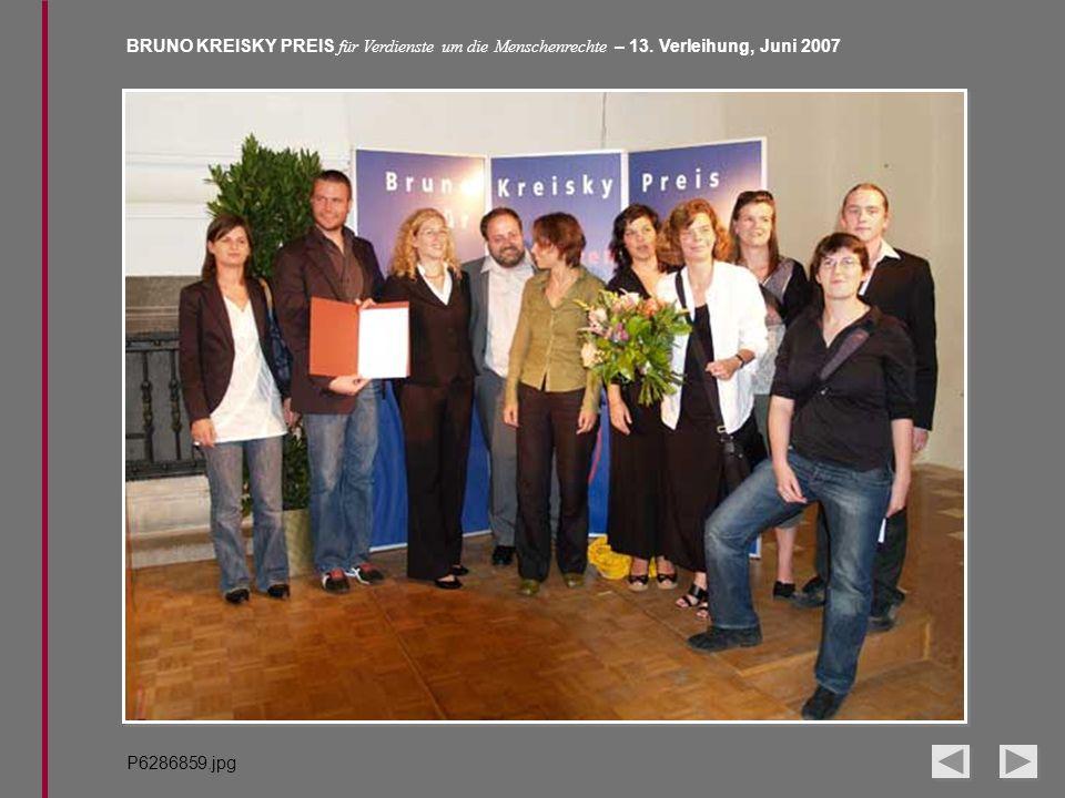 BRUNO KREISKY PREIS für Verdienste um die Menschenrechte – 13. Verleihung, Juni 2007 P6286859.jpg