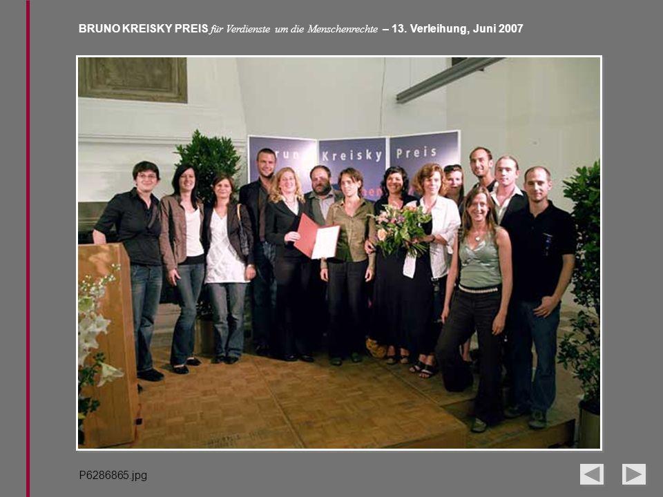 BRUNO KREISKY PREIS für Verdienste um die Menschenrechte – 13. Verleihung, Juni 2007 P6286865.jpg