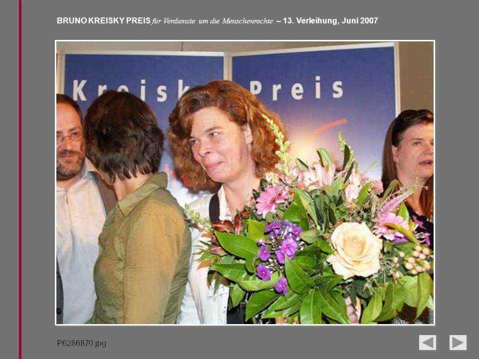 BRUNO KREISKY PREIS für Verdienste um die Menschenrechte – 13. Verleihung, Juni 2007 P6286870.jpg