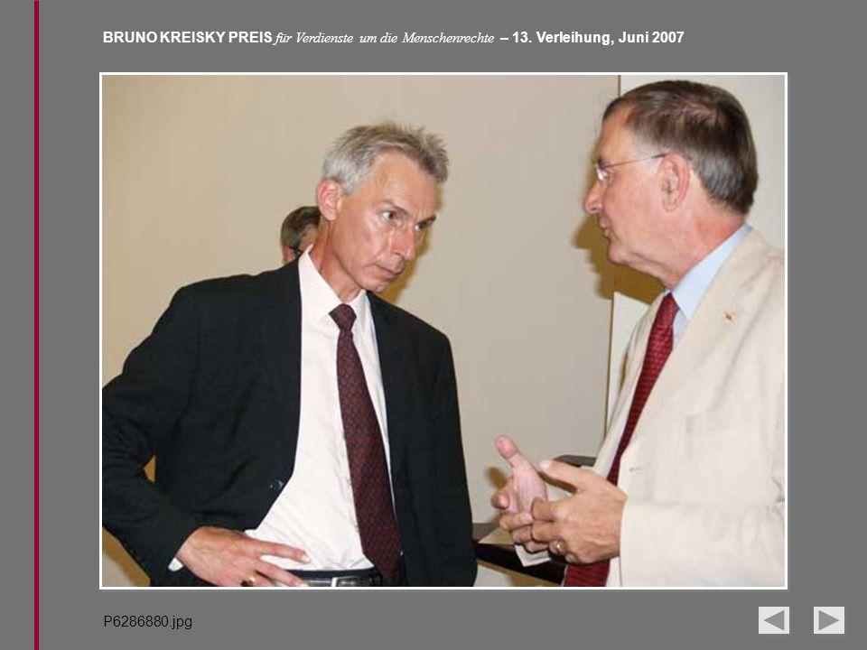 BRUNO KREISKY PREIS für Verdienste um die Menschenrechte – 13. Verleihung, Juni 2007 P6286880.jpg