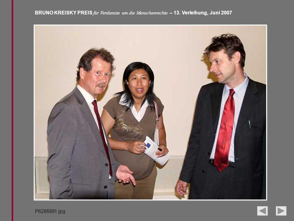 BRUNO KREISKY PREIS für Verdienste um die Menschenrechte – 13. Verleihung, Juni 2007 P6286881.jpg