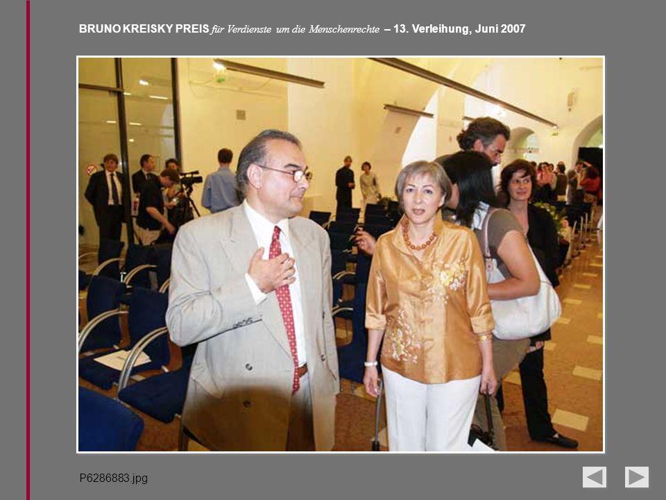 BRUNO KREISKY PREIS für Verdienste um die Menschenrechte – 13. Verleihung, Juni 2007 P6286883.jpg