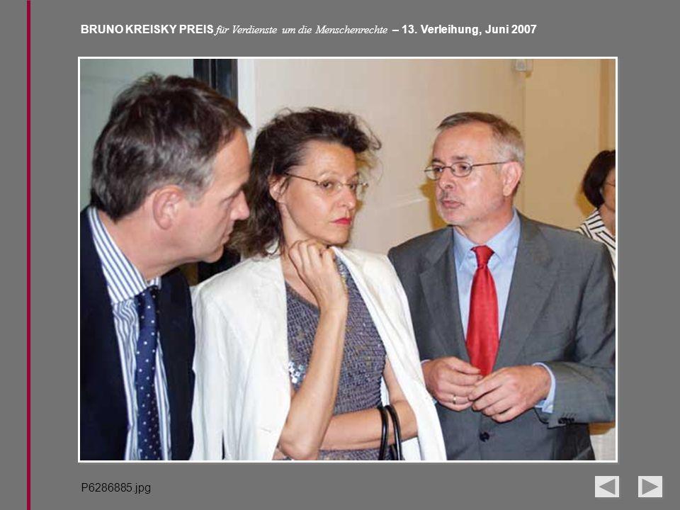 BRUNO KREISKY PREIS für Verdienste um die Menschenrechte – 13. Verleihung, Juni 2007 P6286885.jpg