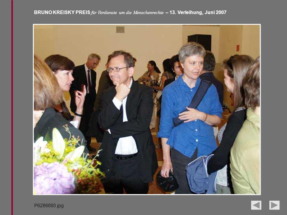 BRUNO KREISKY PREIS für Verdienste um die Menschenrechte – 13. Verleihung, Juni 2007 P6286893.jpg