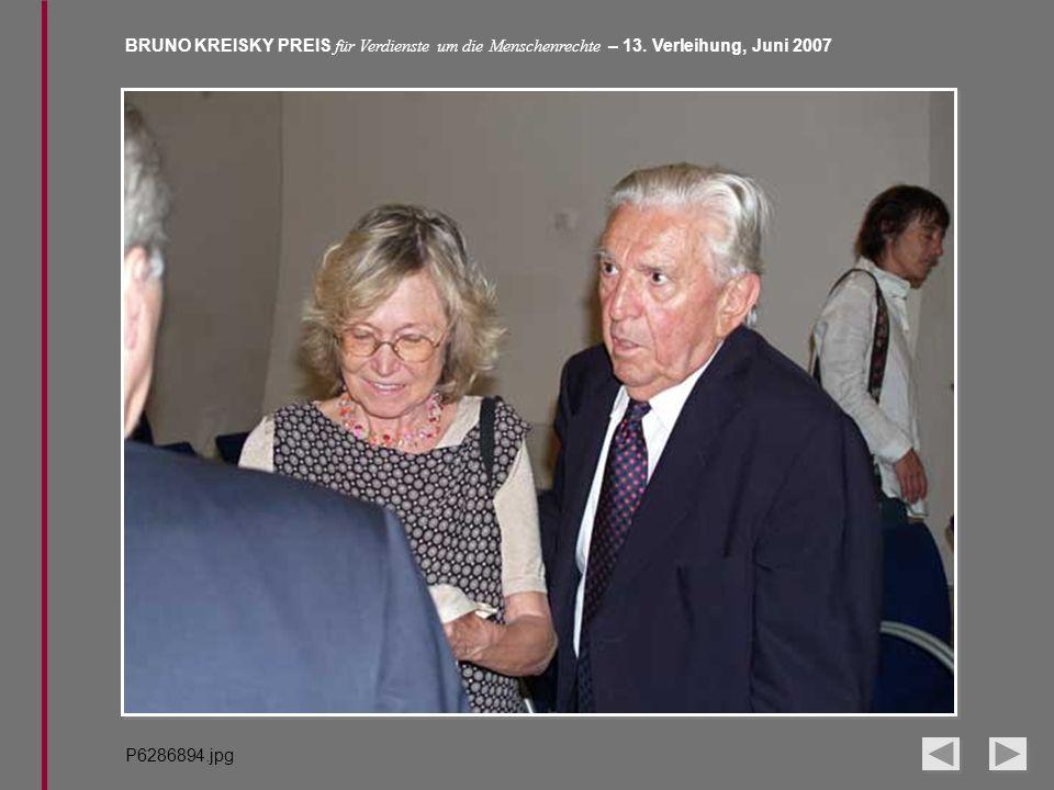 BRUNO KREISKY PREIS für Verdienste um die Menschenrechte – 13. Verleihung, Juni 2007 P6286894.jpg