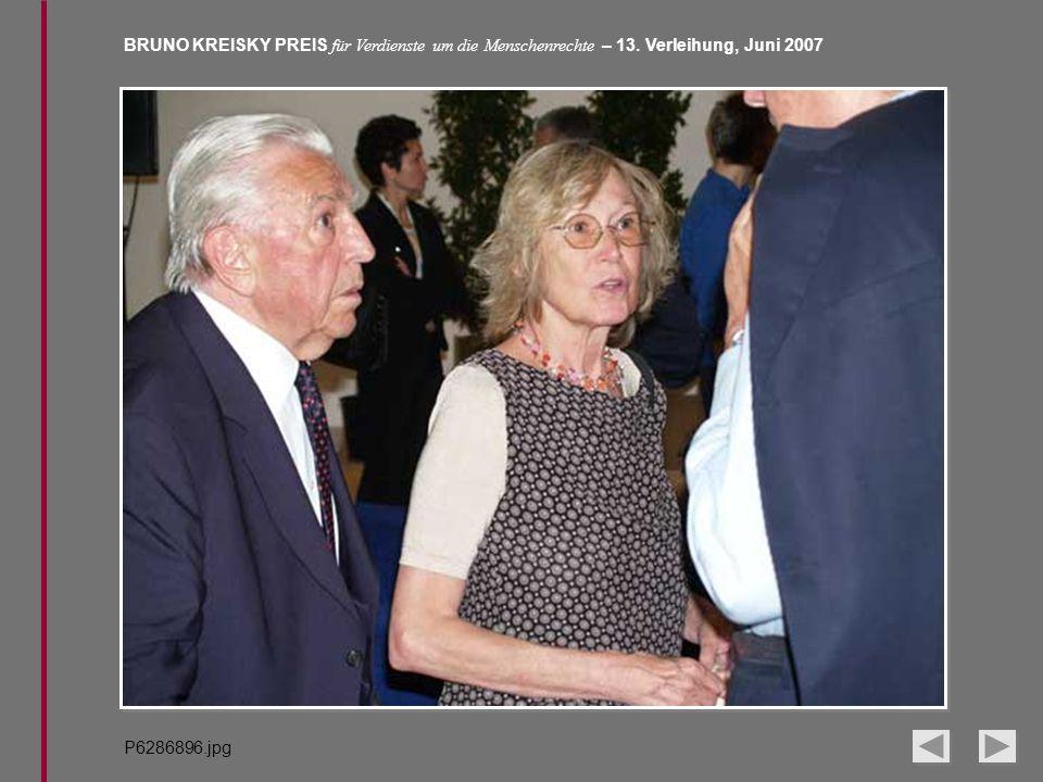 BRUNO KREISKY PREIS für Verdienste um die Menschenrechte – 13. Verleihung, Juni 2007 P6286896.jpg