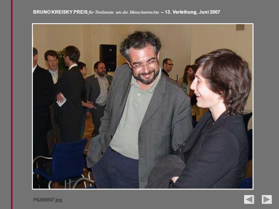 BRUNO KREISKY PREIS für Verdienste um die Menschenrechte – 13. Verleihung, Juni 2007 P6286897.jpg
