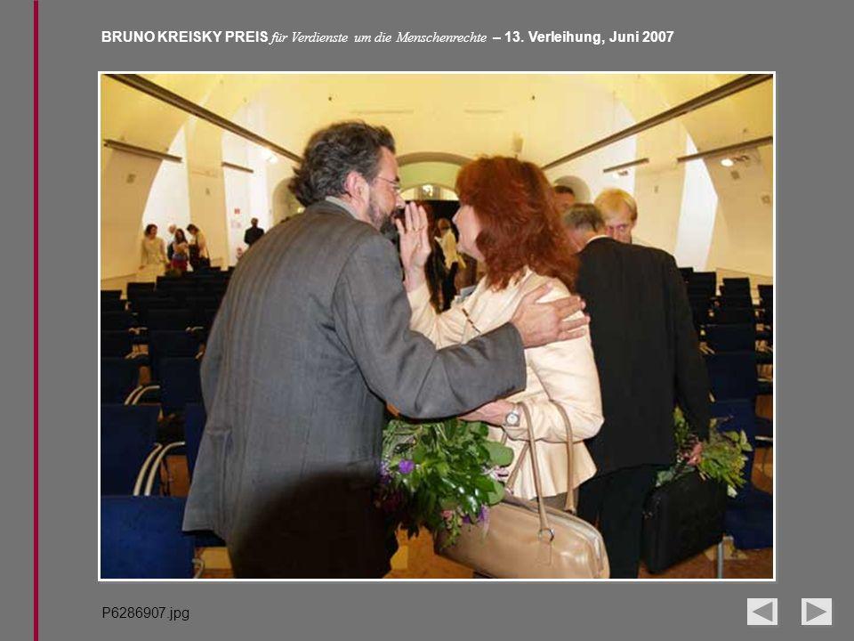 BRUNO KREISKY PREIS für Verdienste um die Menschenrechte – 13. Verleihung, Juni 2007 P6286907.jpg