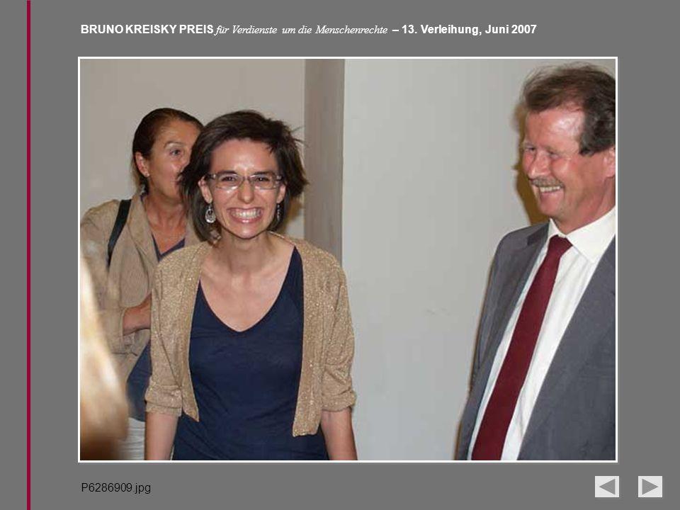 BRUNO KREISKY PREIS für Verdienste um die Menschenrechte – 13. Verleihung, Juni 2007 P6286909.jpg