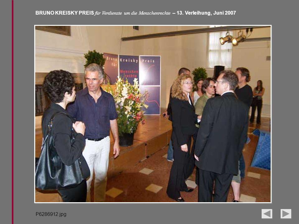 BRUNO KREISKY PREIS für Verdienste um die Menschenrechte – 13. Verleihung, Juni 2007 P6286912.jpg