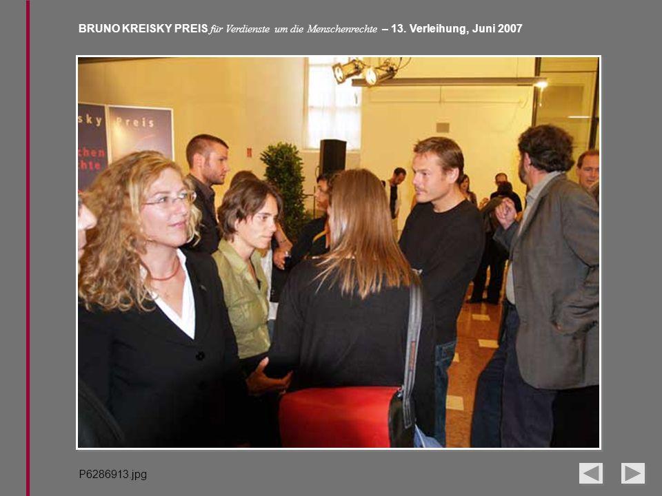 BRUNO KREISKY PREIS für Verdienste um die Menschenrechte – 13. Verleihung, Juni 2007 P6286913.jpg