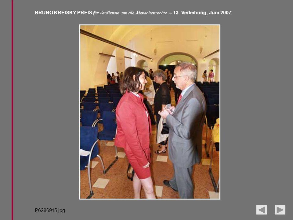 BRUNO KREISKY PREIS für Verdienste um die Menschenrechte – 13. Verleihung, Juni 2007 P6286915.jpg
