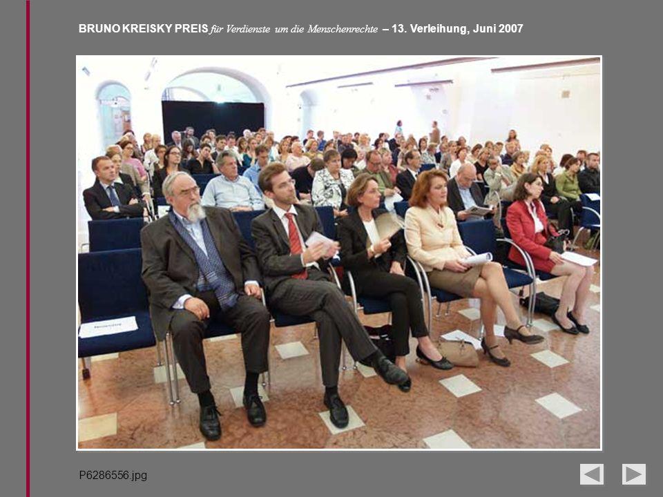 BRUNO KREISKY PREIS für Verdienste um die Menschenrechte – 13. Verleihung, Juni 2007 P6286556.jpg