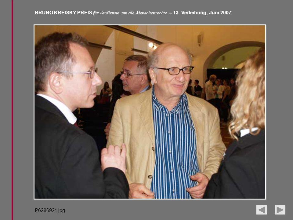 BRUNO KREISKY PREIS für Verdienste um die Menschenrechte – 13. Verleihung, Juni 2007 P6286924.jpg