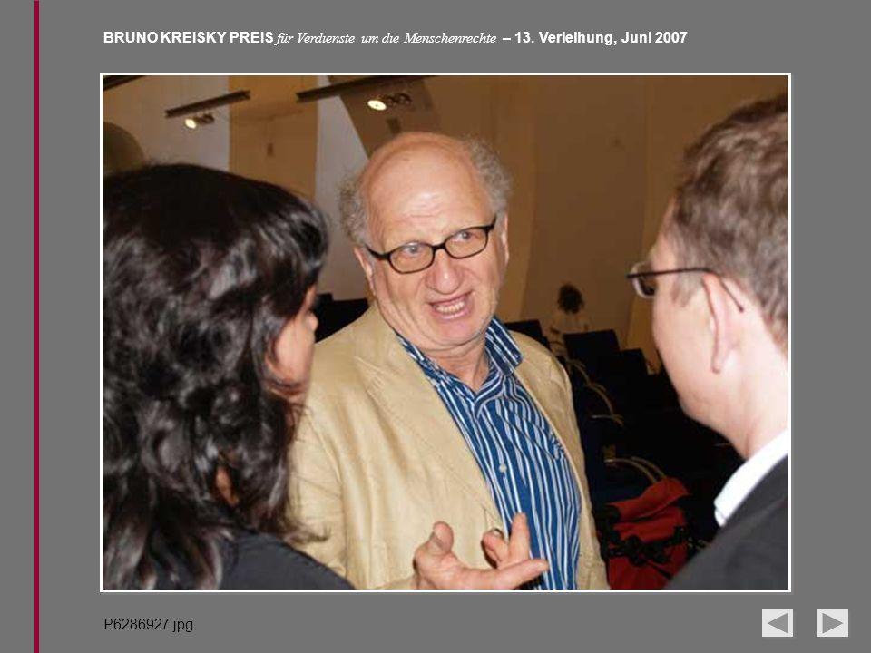 BRUNO KREISKY PREIS für Verdienste um die Menschenrechte – 13. Verleihung, Juni 2007 P6286927.jpg