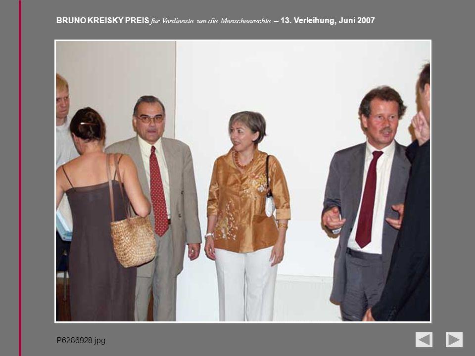 BRUNO KREISKY PREIS für Verdienste um die Menschenrechte – 13. Verleihung, Juni 2007 P6286928.jpg