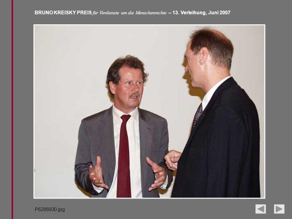 BRUNO KREISKY PREIS für Verdienste um die Menschenrechte – 13. Verleihung, Juni 2007 P6286930.jpg