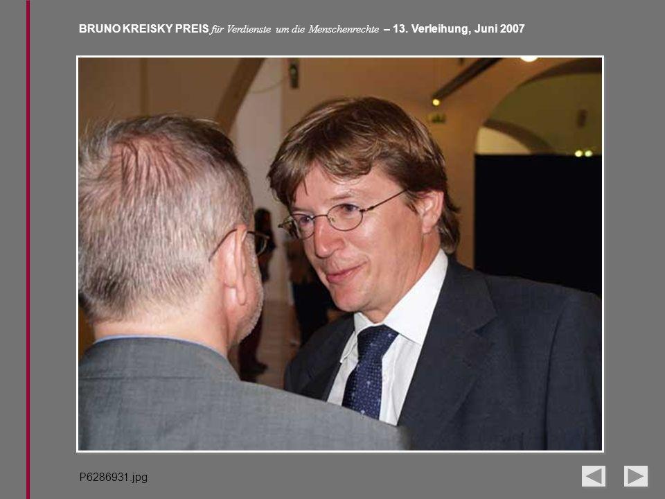 BRUNO KREISKY PREIS für Verdienste um die Menschenrechte – 13. Verleihung, Juni 2007 P6286931.jpg