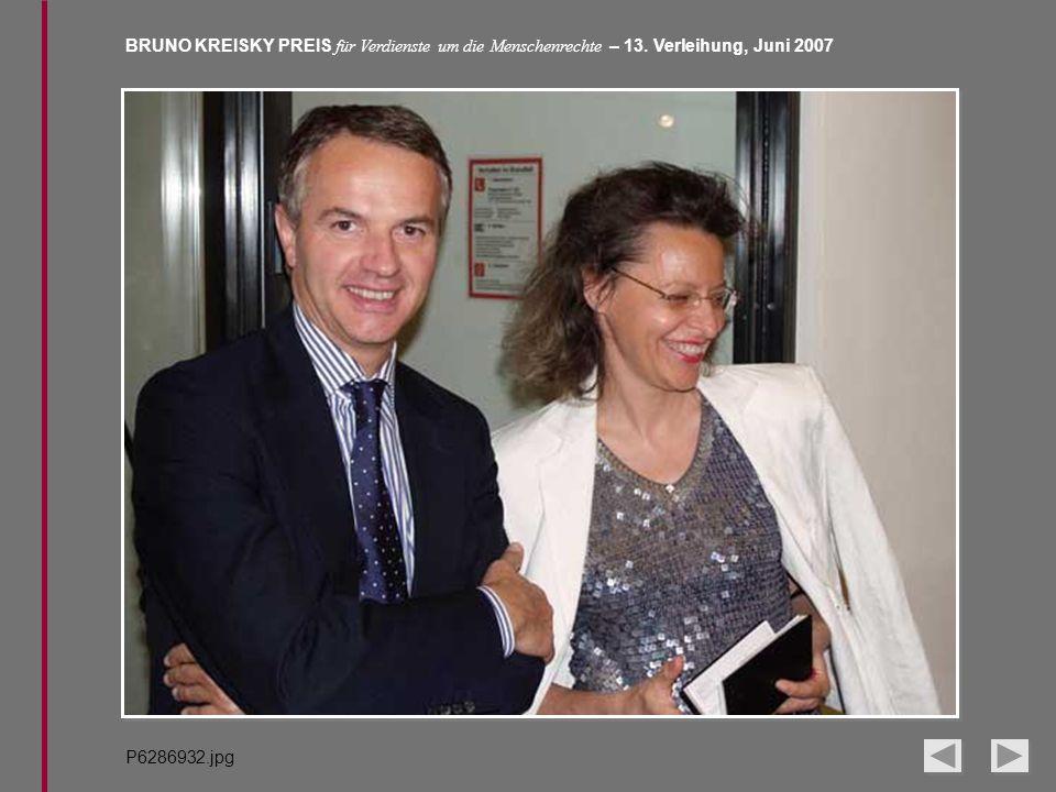 BRUNO KREISKY PREIS für Verdienste um die Menschenrechte – 13. Verleihung, Juni 2007 P6286932.jpg