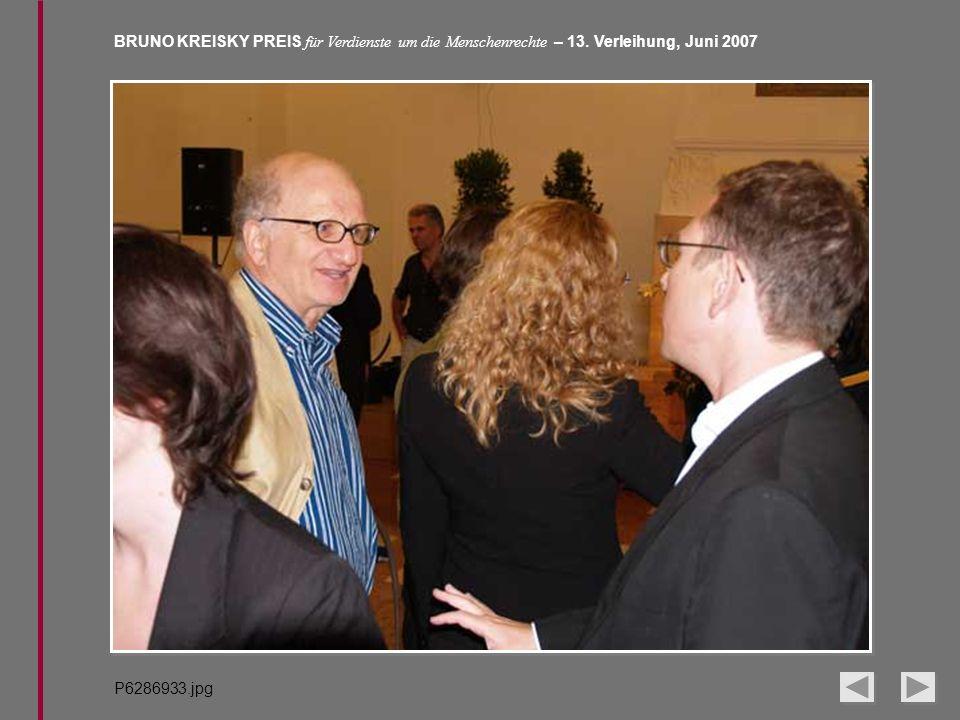 BRUNO KREISKY PREIS für Verdienste um die Menschenrechte – 13. Verleihung, Juni 2007 P6286933.jpg