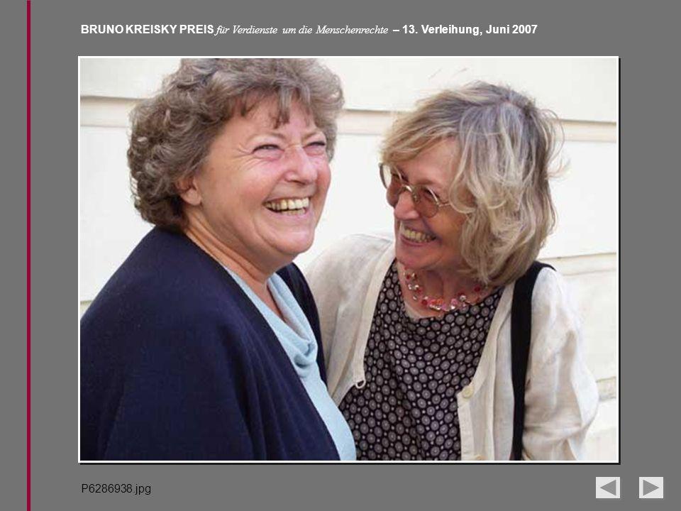 BRUNO KREISKY PREIS für Verdienste um die Menschenrechte – 13. Verleihung, Juni 2007 P6286938.jpg