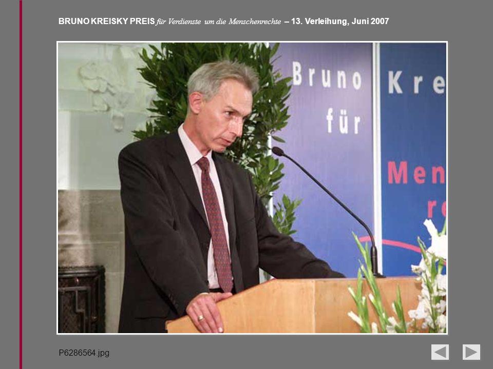 BRUNO KREISKY PREIS für Verdienste um die Menschenrechte – 13. Verleihung, Juni 2007 P6286564.jpg