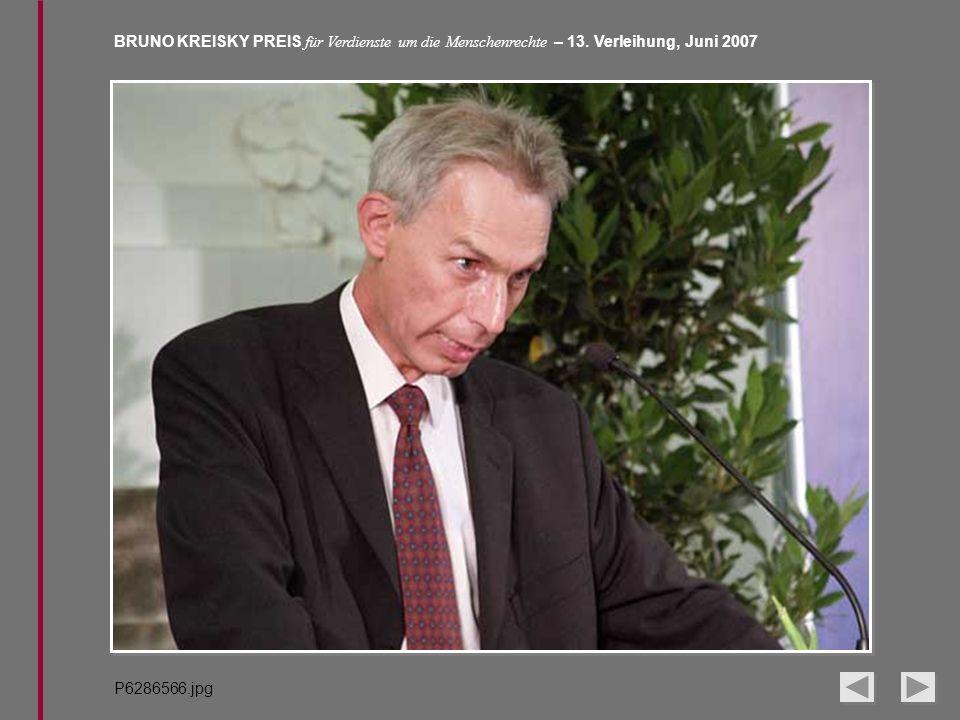 BRUNO KREISKY PREIS für Verdienste um die Menschenrechte – 13. Verleihung, Juni 2007 P6286566.jpg