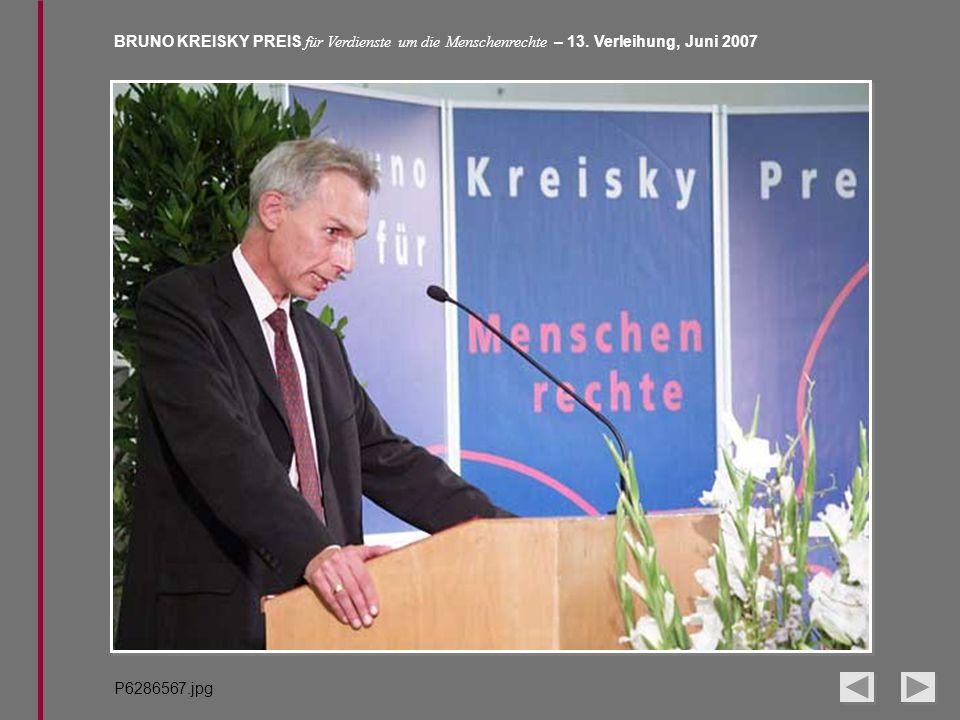 BRUNO KREISKY PREIS für Verdienste um die Menschenrechte – 13. Verleihung, Juni 2007 P6286567.jpg