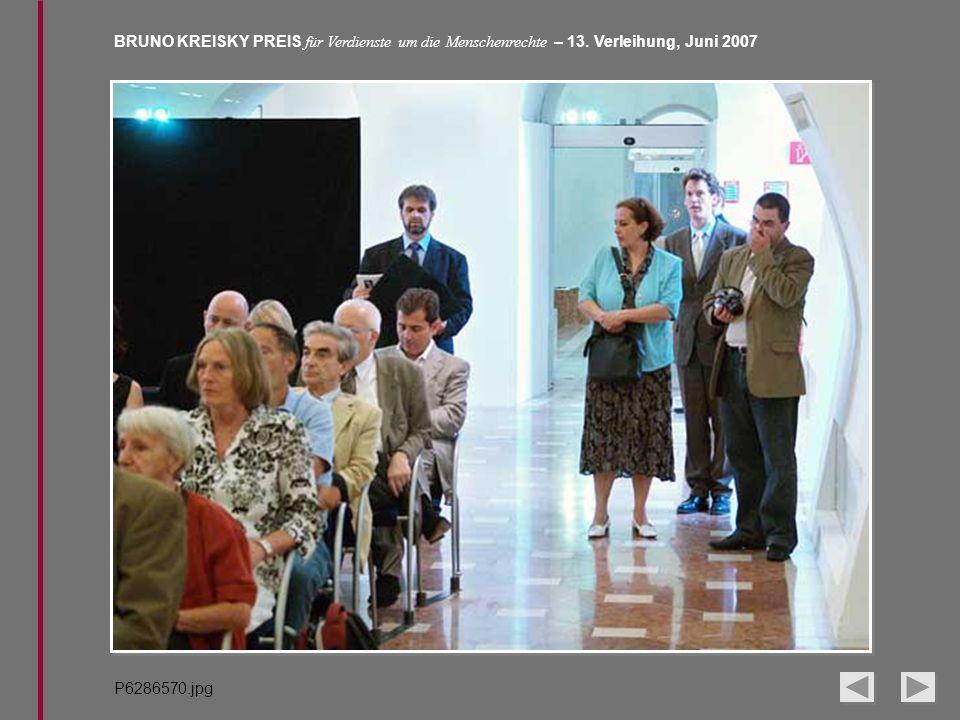 BRUNO KREISKY PREIS für Verdienste um die Menschenrechte – 13. Verleihung, Juni 2007 P6286570.jpg