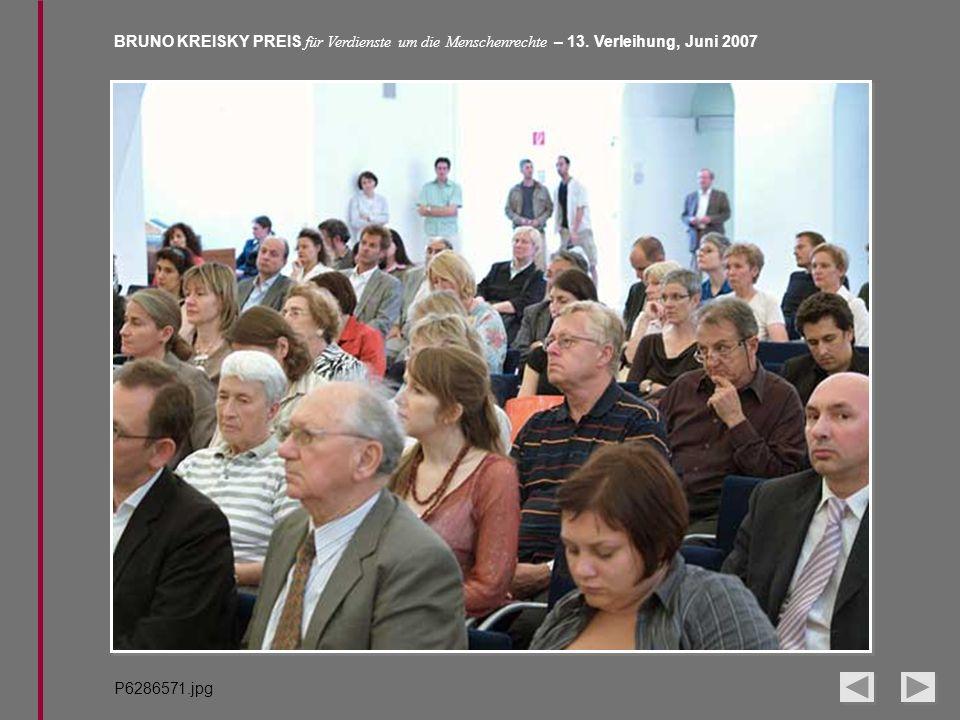 BRUNO KREISKY PREIS für Verdienste um die Menschenrechte – 13. Verleihung, Juni 2007 P6286571.jpg