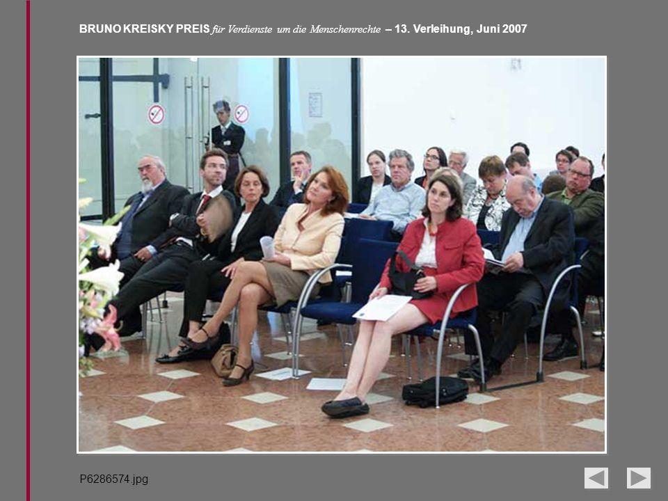 BRUNO KREISKY PREIS für Verdienste um die Menschenrechte – 13. Verleihung, Juni 2007 P6286574.jpg