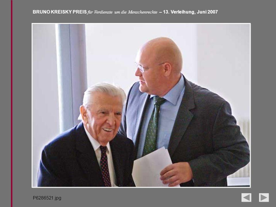 BRUNO KREISKY PREIS für Verdienste um die Menschenrechte – 13. Verleihung, Juni 2007 P6286521.jpg