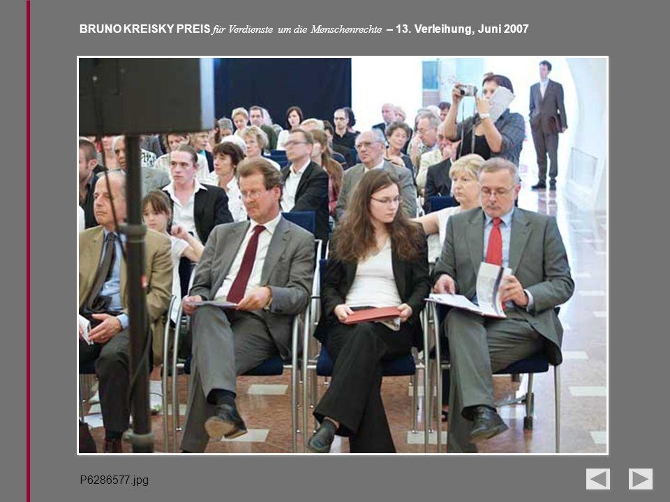 BRUNO KREISKY PREIS für Verdienste um die Menschenrechte – 13. Verleihung, Juni 2007 P6286577.jpg