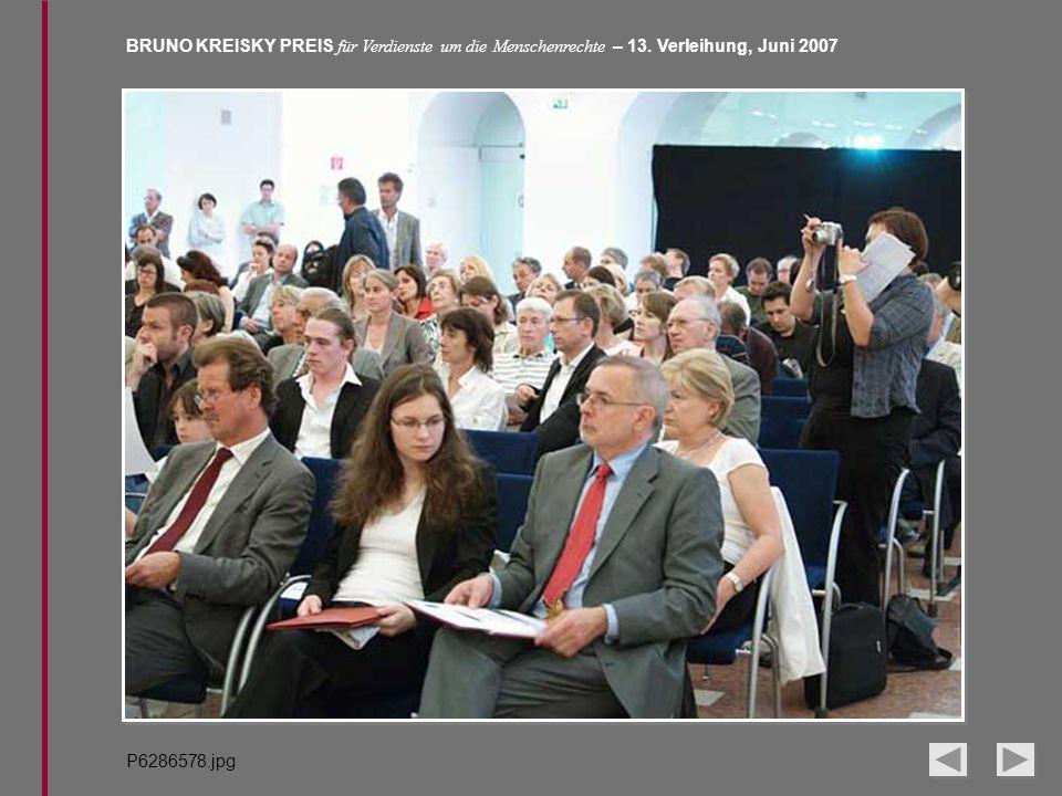 BRUNO KREISKY PREIS für Verdienste um die Menschenrechte – 13. Verleihung, Juni 2007 P6286578.jpg