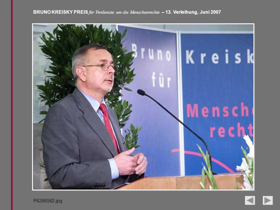 BRUNO KREISKY PREIS für Verdienste um die Menschenrechte – 13. Verleihung, Juni 2007 P6286582.jpg