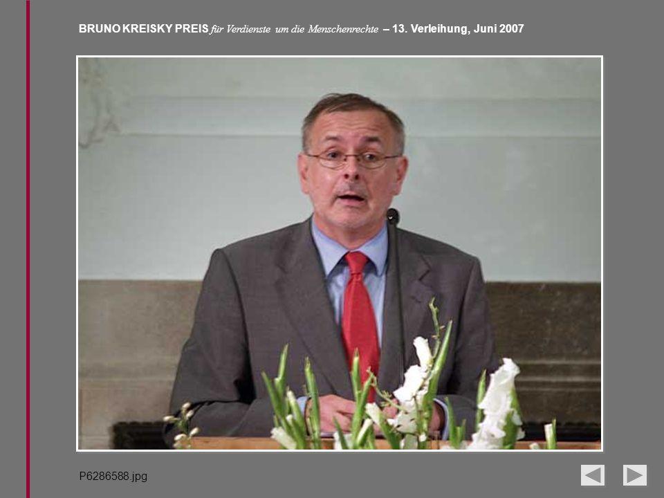 BRUNO KREISKY PREIS für Verdienste um die Menschenrechte – 13. Verleihung, Juni 2007 P6286588.jpg