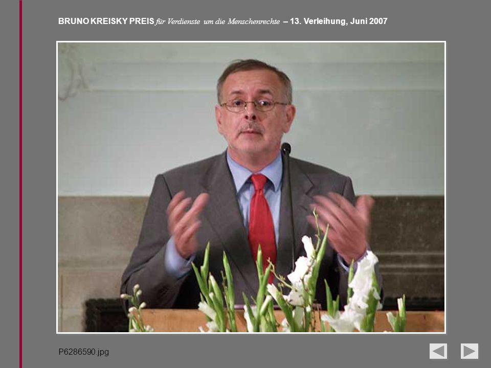 BRUNO KREISKY PREIS für Verdienste um die Menschenrechte – 13. Verleihung, Juni 2007 P6286590.jpg
